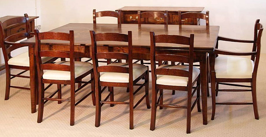 Reproduction French Antique Dining Table and Chairs