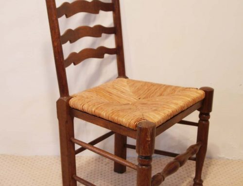 English Antique Style Wavy Line Ladder Back Chairs