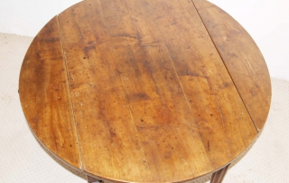 French Antique Cherry Drop Leaf Table