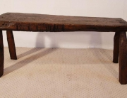 Antique Welsh Oak Pig Bench