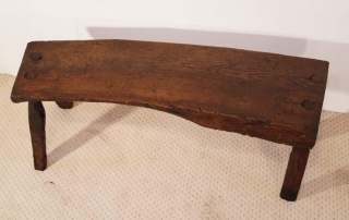 Antique Welsh Oak Pig Bench
