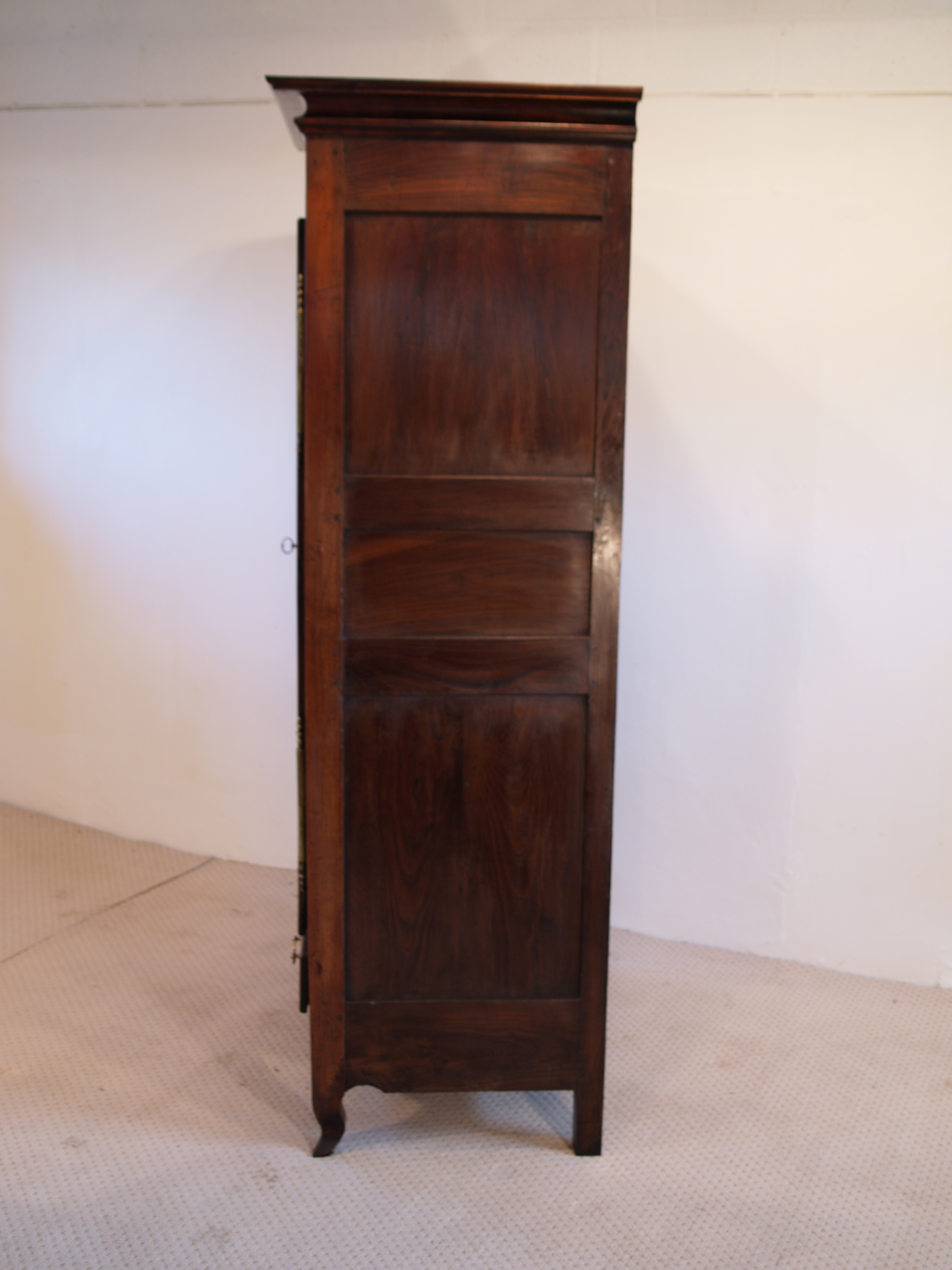 French Antique Cherry Bonnetiere, Armoire, side