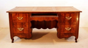 French Antique Cherry Desk, Bureau, front elevation