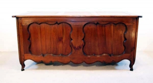 French Antique Cherry Desk, Bureau, back elevation