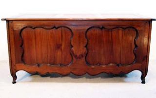 French Antique Cherry Desk, Bureau, back elevation