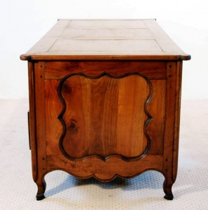 French Antique Cherry Desk, Bureau, end elevation