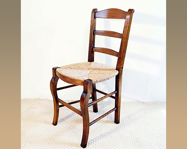 French Antique Style Provence Chair with sabre legs