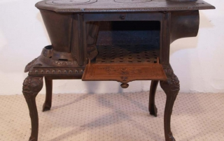 French Antique Cast Iron Stove Oven