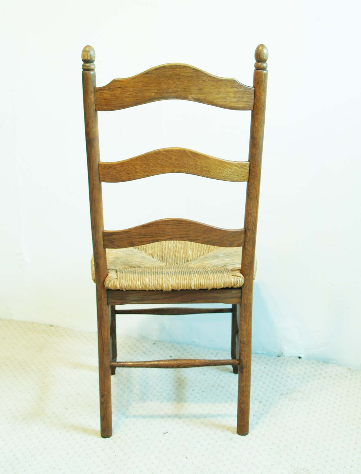 Set of 4 French antique shaker style chairs, back elevation