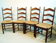 French antique shaker style chairs set of 4