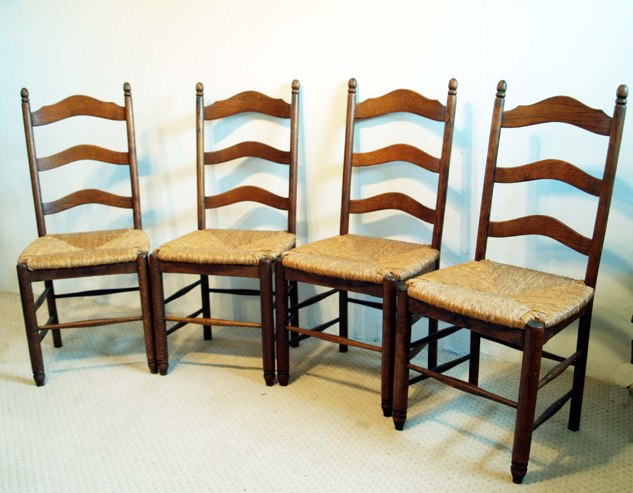 Set of 4 French antique shaker style chairs