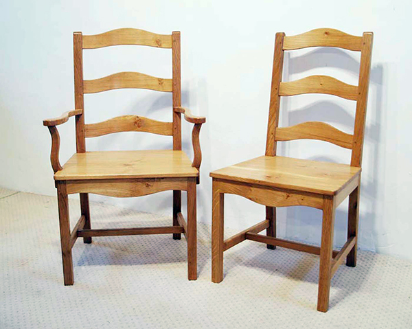French Antique Style Loire Ladder Back Chairs