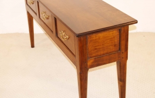 French Antique Style 3 Drawer Server, side elevation