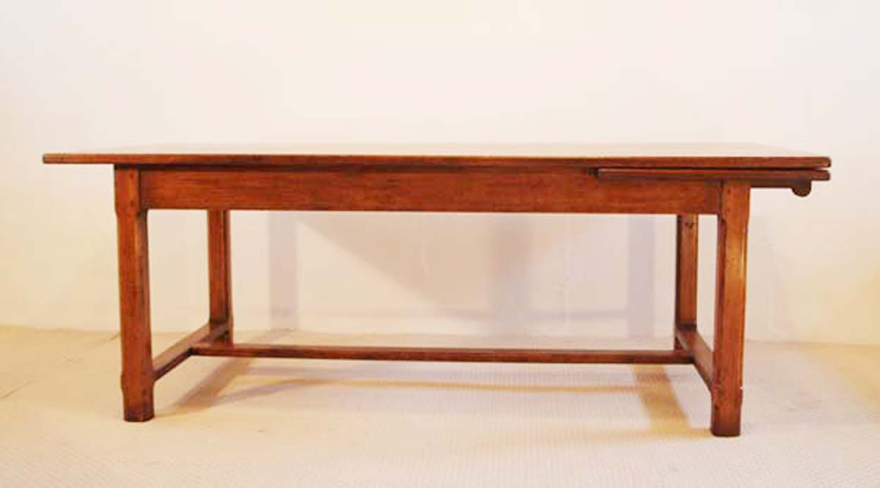 French Antique Style Table with H Stretchers
