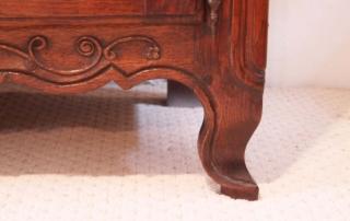 French Antique Vintage Oak Enfilade, 3 Door Buffet, cabriole feet