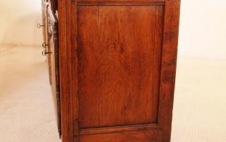 French Antique Vintage Oak Enfilade, 3 Door Buffet, end