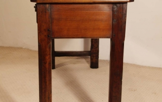French Antique Cherry and Oak 3 Drawer Server, end elvation