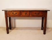 French antique cherry and oak 3 drawer server front elevation