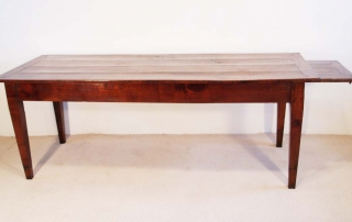 French Antique Cherry Farmhouse Table C 1810, side elevation