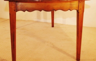 French Antique style Cherry Provence Dining table, end elevation