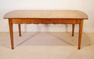 French Antique style Cherry Provence Dining table, side elevation