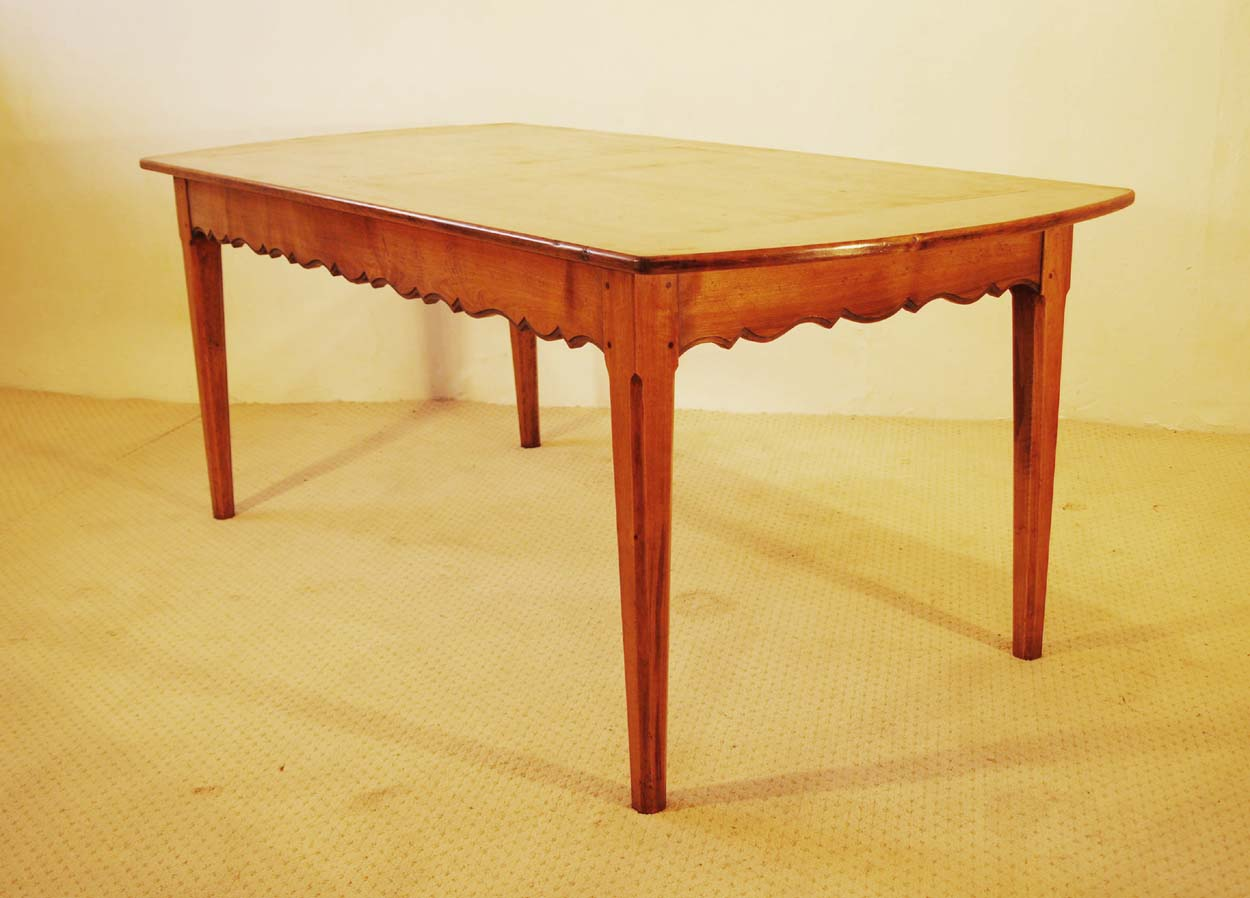 French Antique style Cherry Provence Dining table