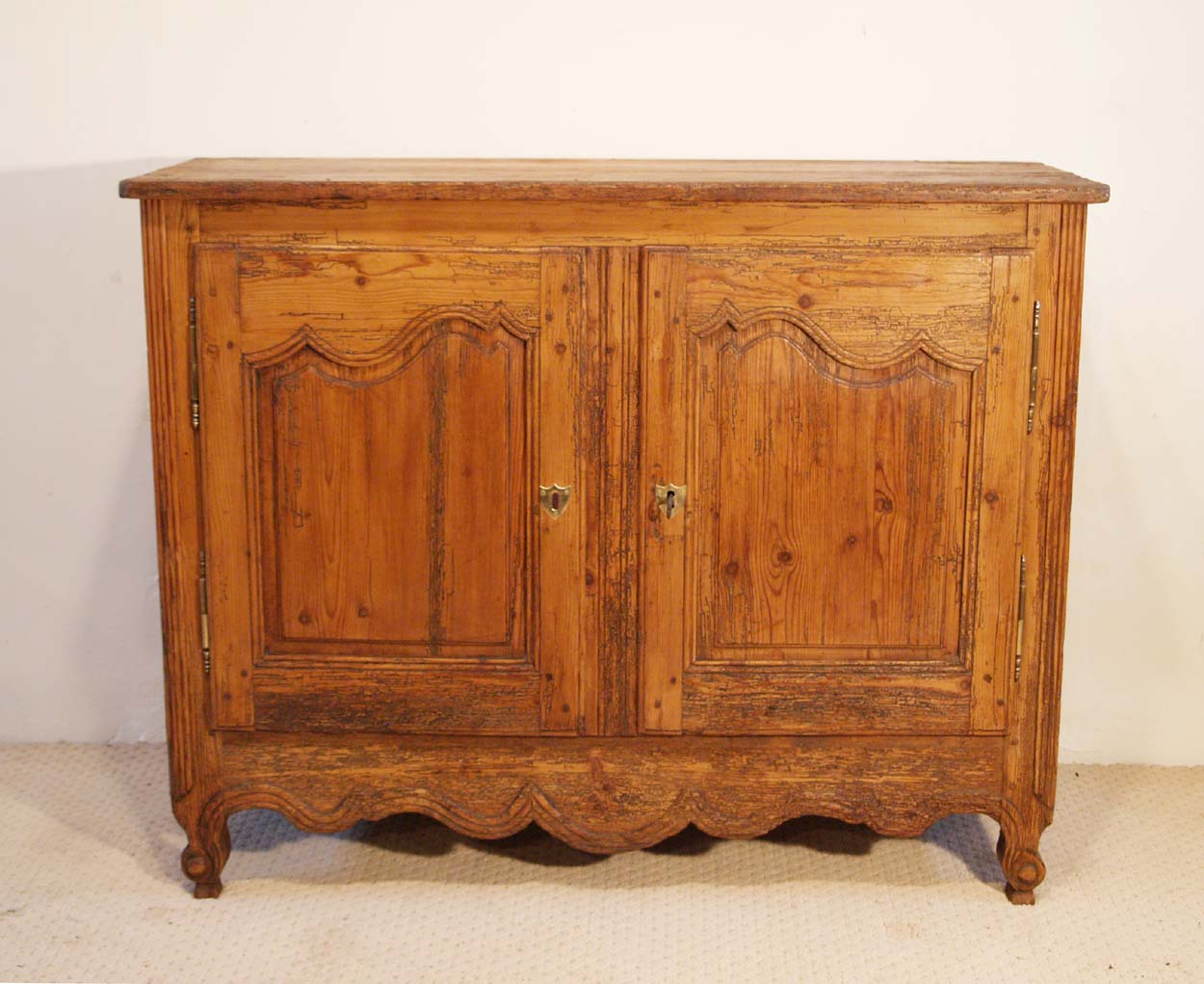 French Antique Pine Buffet / Sideboard, C 1780