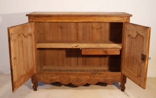 French Antique Pine Buffet / Sideboard, C 1780, interior