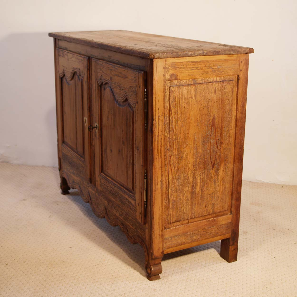 French Antique Pine Buffet / Sideboard, C 1780, right elevation