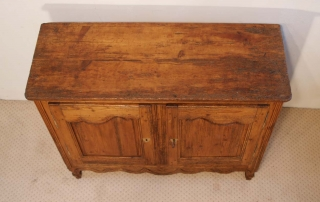 French Antique Pine Buffet / Sideboard, C 1780, top