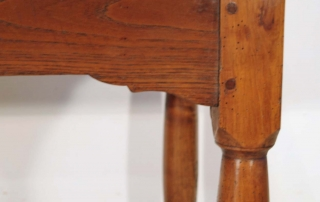 French Antique Cherry Farmhouse Table with Crinoline Stretchers C 1790, bracketed framek and key