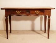 French antique walnut 2 drawer server desk front elevation