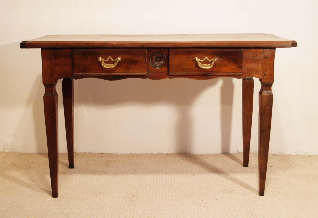 antique desk furniture uk. french antique walnut 2 drawer server desk front elevation furniture uk