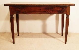 French Antique Walnut 2 Drawer Server, Desk, rear elevation