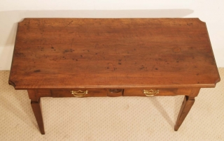 French Antique Walnut 2 Drawer Server , Desk, one plank top