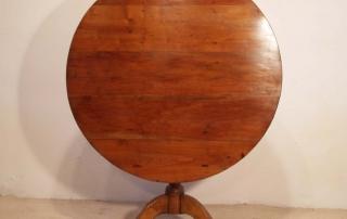 French Antique Cherry Gueridon, Pedestal Tilt Top Table, front