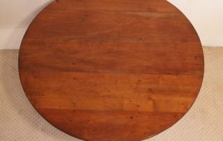 French Antique Cherry Gueridon, Pedestal Tilt Top Table,top