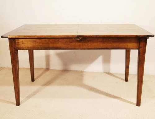French Antique Style Centre Extending Table with Drop in Leaves