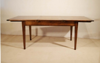 French Antique Style Centre Extending Table with Drop in Leaves, single leaf