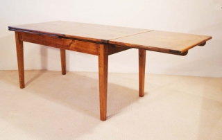French Antique Style Double Extending Table, half extended