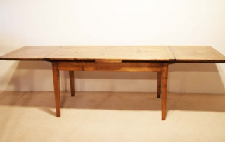 French Antique Style Double Extending Table, two leaves