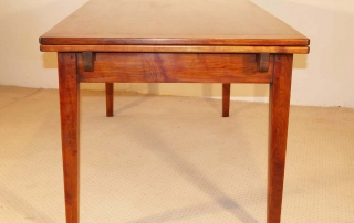 French Vintage Style Double Extending Table, end