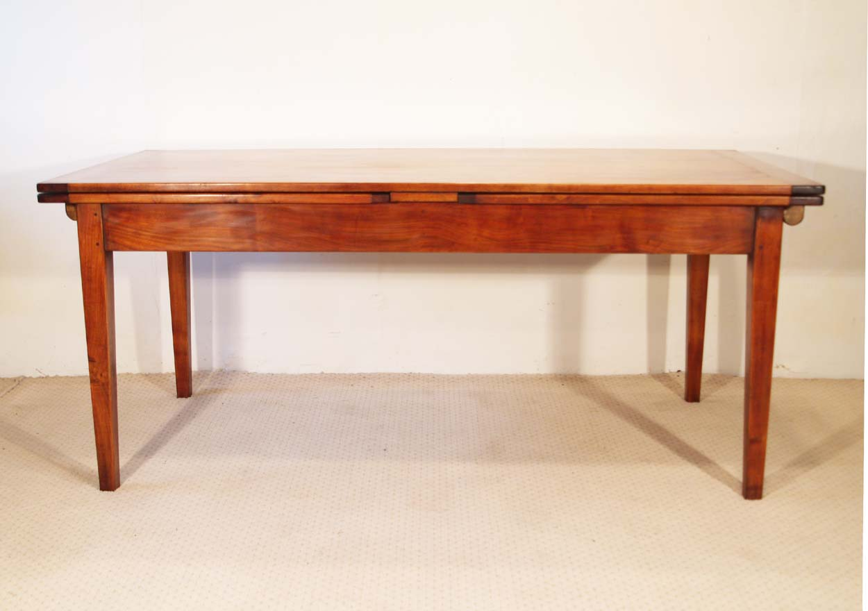 French Vintage Style Double Extending Table, side