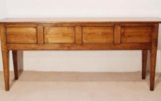 French Antique Style 4 Drawer Server / Dresser Base, back