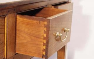 French Antique Style 4 Drawer Server / Dresser Base, dovetail drawer