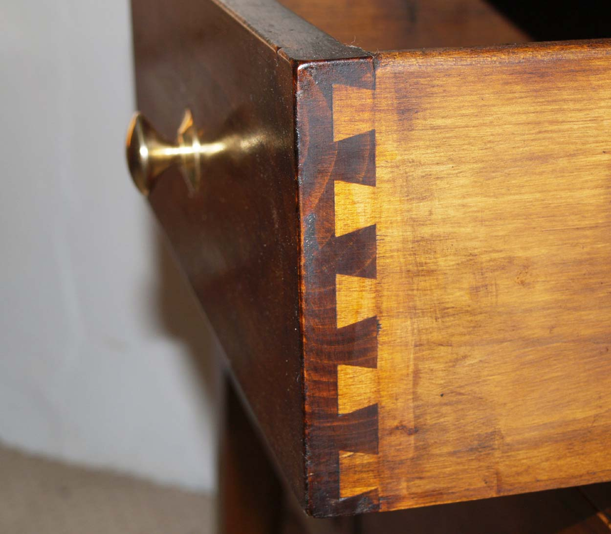 French Antique Style 6 Drawer Server, dovetail drawer