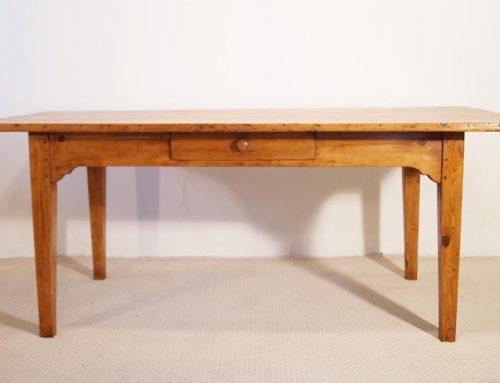 French antique pine farmhouse kitchen table