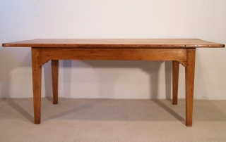 French Antique pine farmhouse kitchen table, back