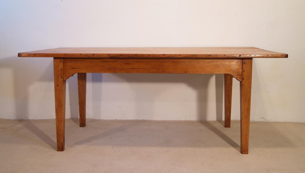 French Antique pine farmhouse kitchen table, back