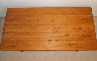French Antique pine farmhouse kitchen table, top